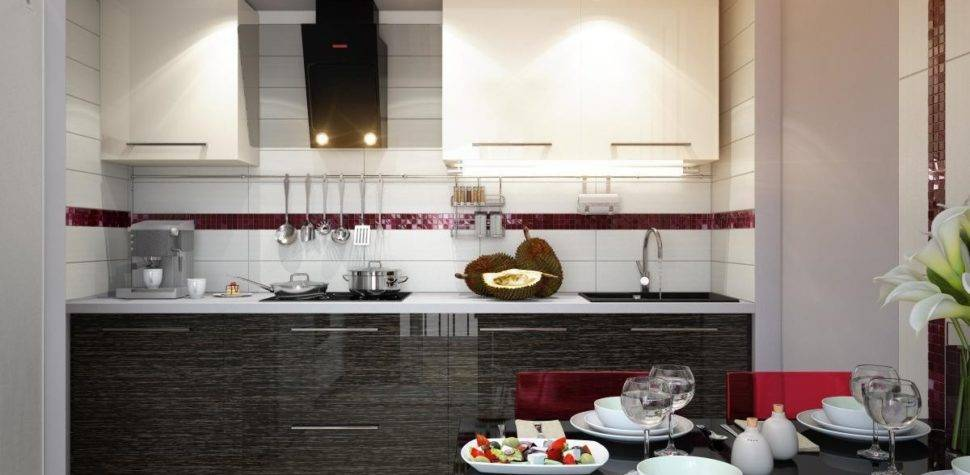 Red White Black Modern Kitchen Dining Decor Style Olpos