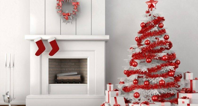Red White Christmas Home Decoration Ideas
