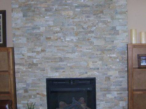 Refacing Brick Fireplace Stone Veneer Home Design Ideas