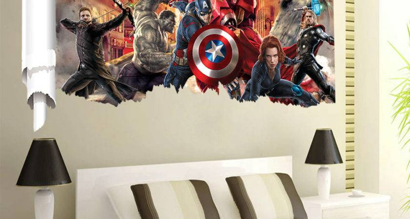 Removable Avengers Scroll Wall Sticker Home Decor