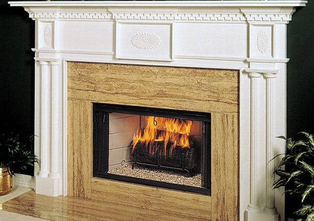Renaissance Wood Fireplace Mantel Surround