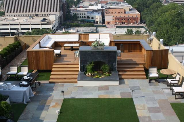 Residential Rooftop Gardens Home Decoration