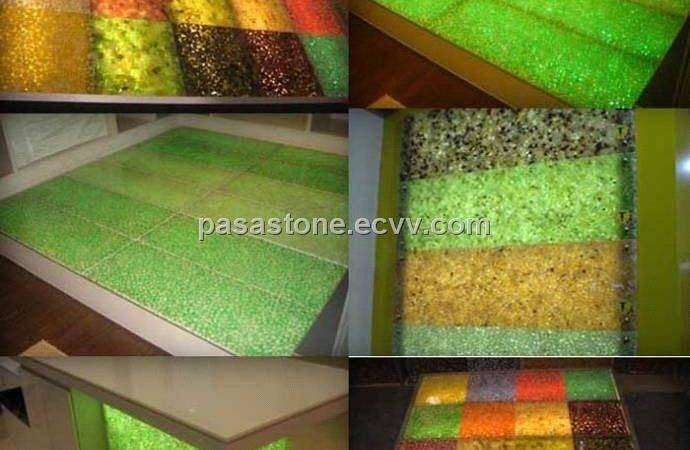 Resin Pebble Stone Decoration Material Bar Top
