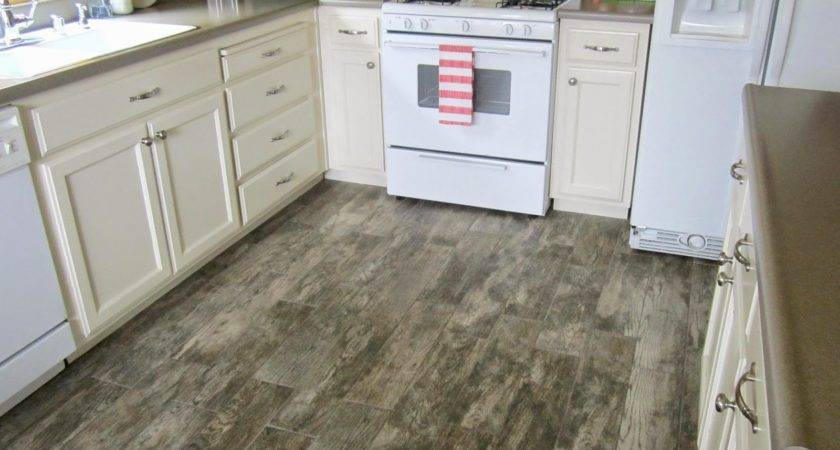 Restoration Beauty Faux Wood Tile Flooring Kitchen