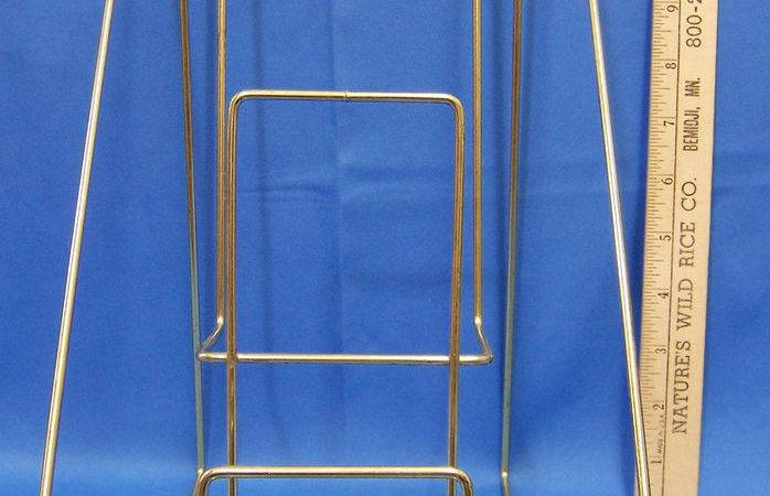 Retail Book Display Wire Double Tiered Rack Countertop