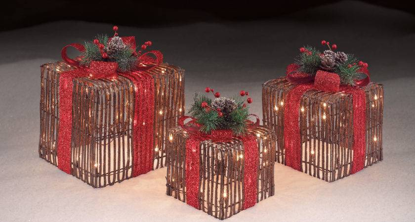 Roebuck Grapevine Gift Boxes Set Outdoor