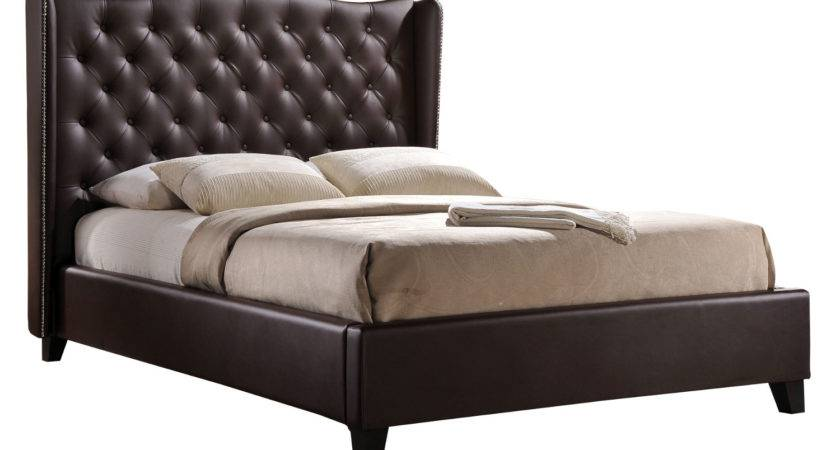 Romana Faux Leather Double Bed Frame Delivery Next