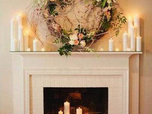 Romantic Fireplace Candle Ideas Home Design Interior