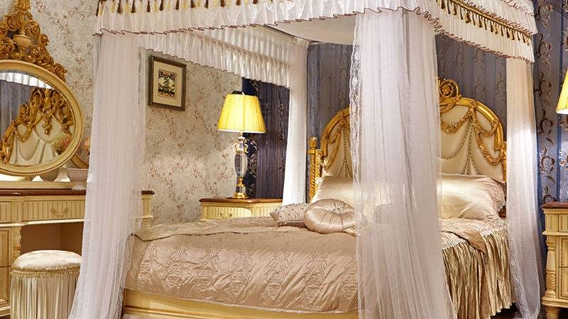 Romantic Mosquito Bed Canopy Curtain Stainless