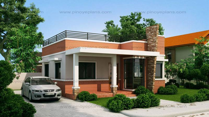 Rommell One Storey Modern Roof Deck Pinoy Eplans