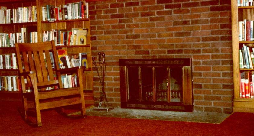 Room Library Home Fireplace Awesome Building