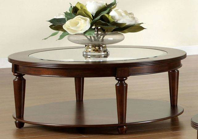 Round Coffee Table Glass Top Roselawnlutheran