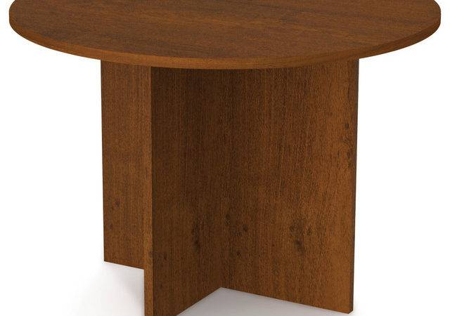 Round Meeting Table Tuscany Brown Modern