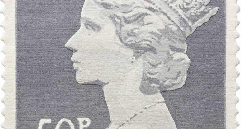 Royal Mail Stamp Rugs Thoughtful Eye