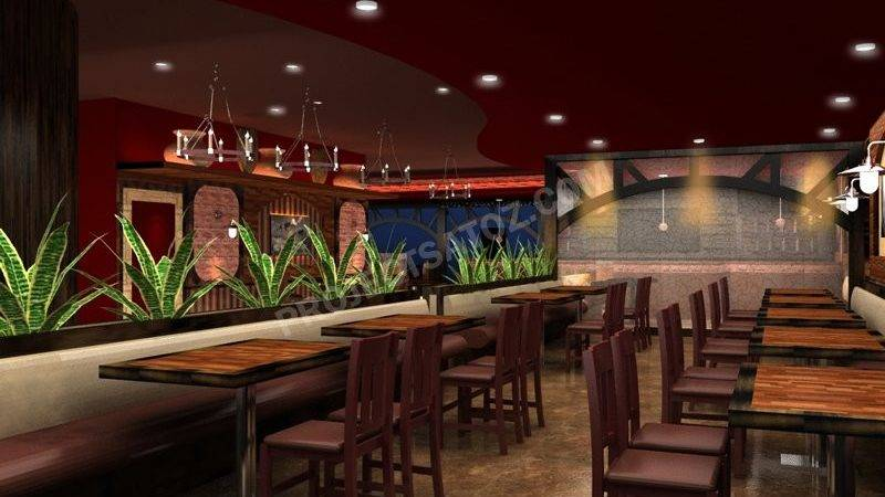 Rustic American Style Mexican Restaurant Design Projects