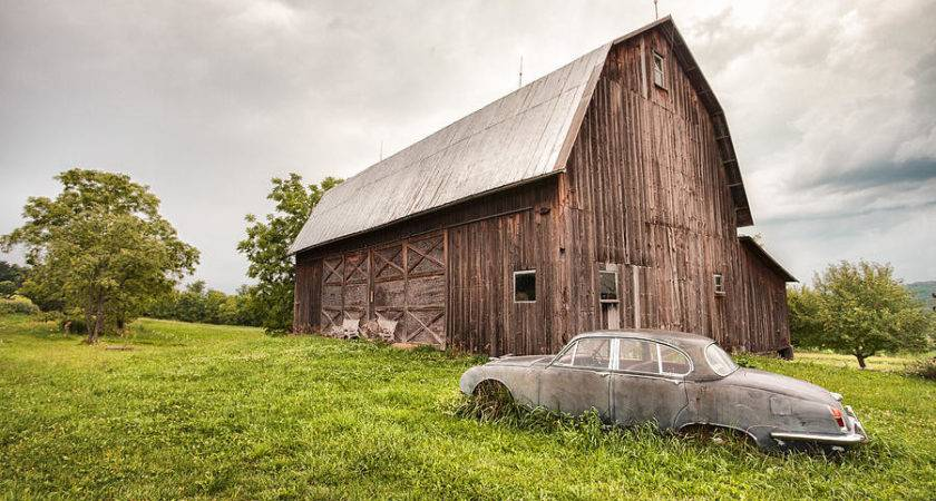 Rustic Art Old Car Barn Photograph Gary Heller