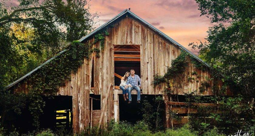 Rustic Barn Engagement Houston Haley Andrew