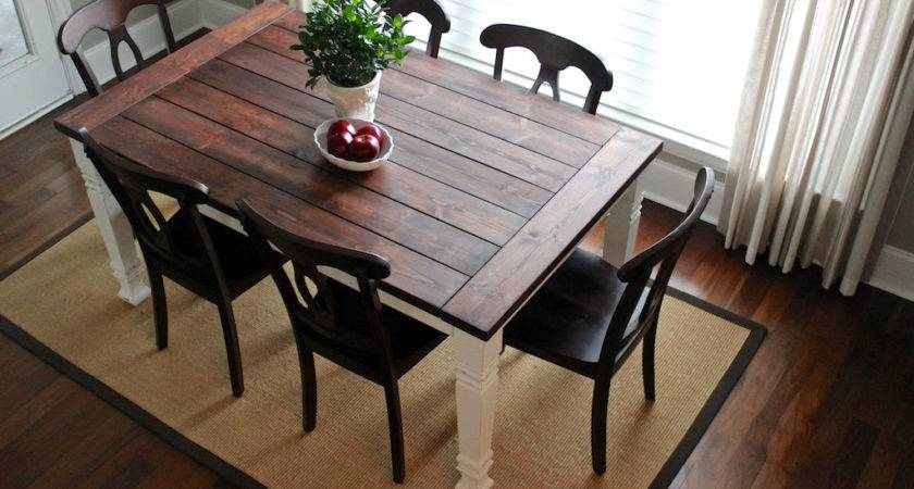 Rustic Dining Room Table Plans Large Beautiful