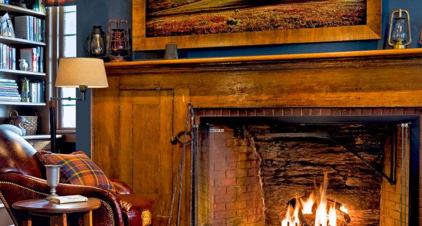 Rustic Fireplaces Room Rock Fireplace