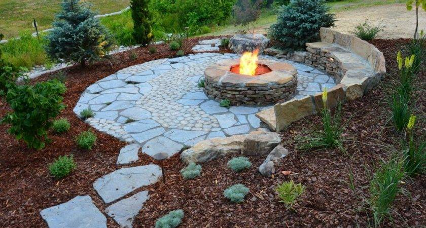 Rustic Landscaping Ideas Landscape Stone Fire