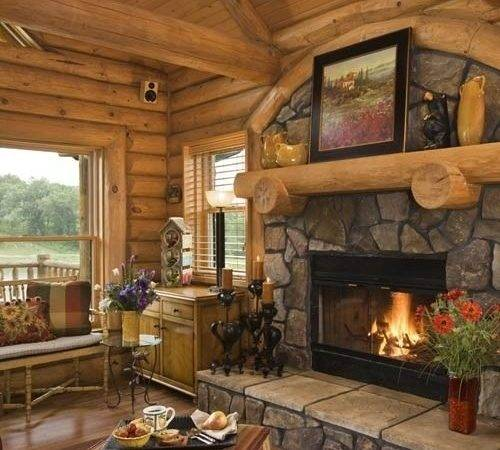 Rustic Living Room Design Fireplaces
