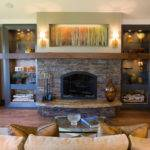 Rustic Living Room Stacked Stone Fireplace Hgtv