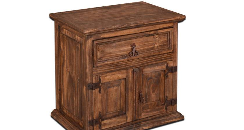 Rustic Night Stand Pine