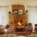 Rustic Stone Fireplace Country Living Room Martyn