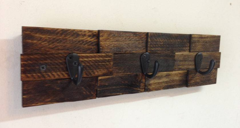 Rustic Wall Mount Key Rack Entryway Storage