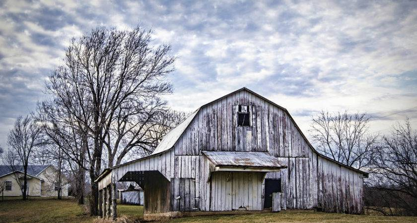 Rustic White Barn Photograph Cricket Hackmann