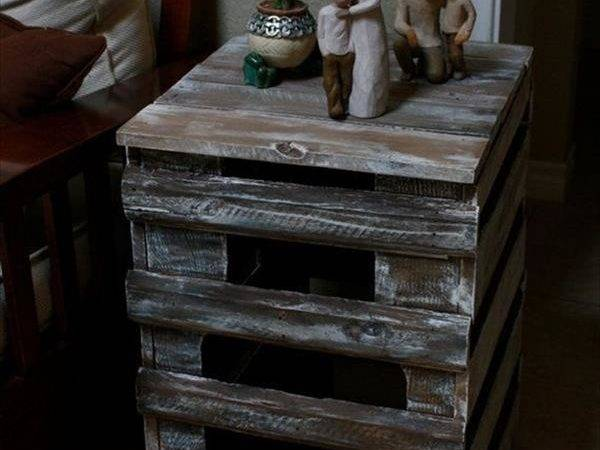 Rustic Wooden Pallet End Table Designs Recycled Ideas