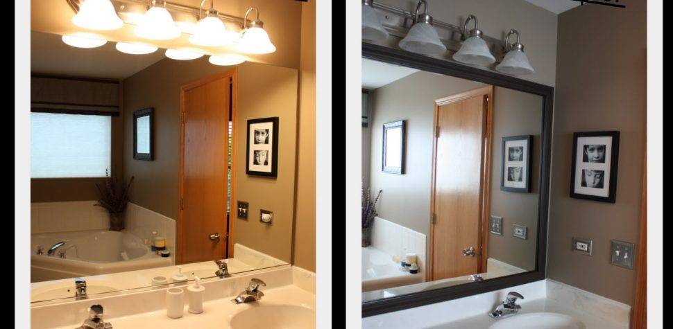 Sabby Suburbia Master Bath Mirror Reveal