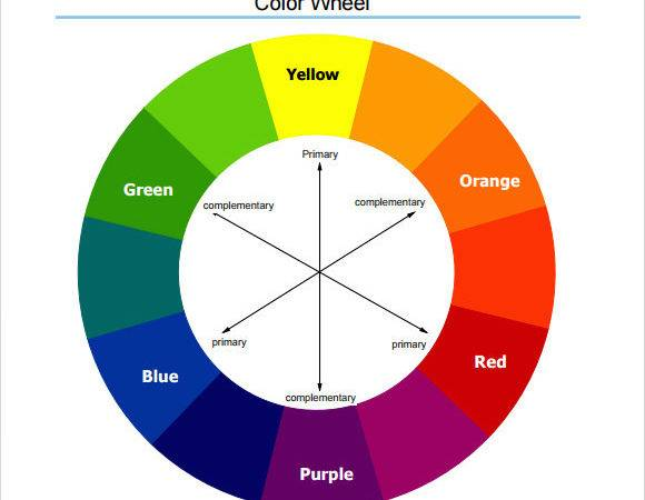 Sample Color Wheel Chart Documents Pdf Word