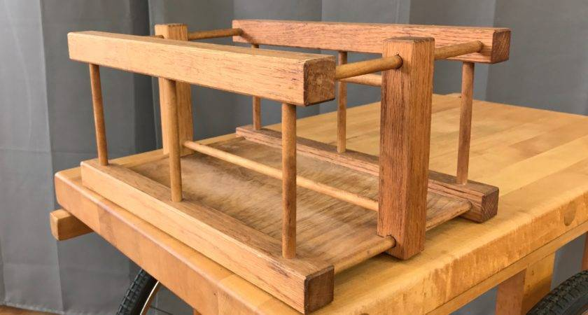 Sanders Chopping Block Wheels Serving Cart