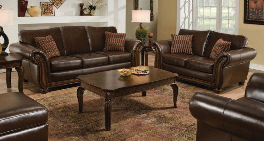 Santa Monica Traditional Bonded Leather Living Room
