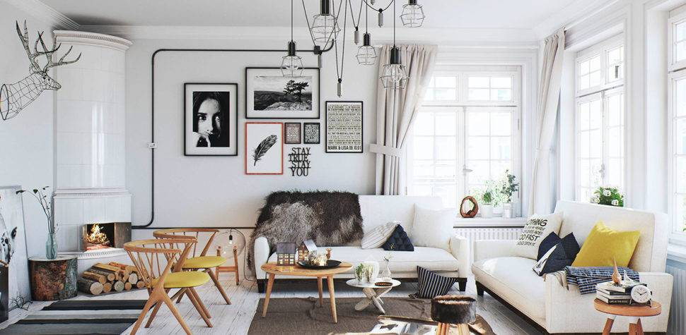 Scandinavian Living Room Interior Design Ideas