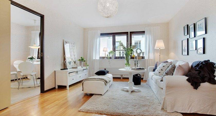 Scandinavian Style Pink White Apartment Sweden