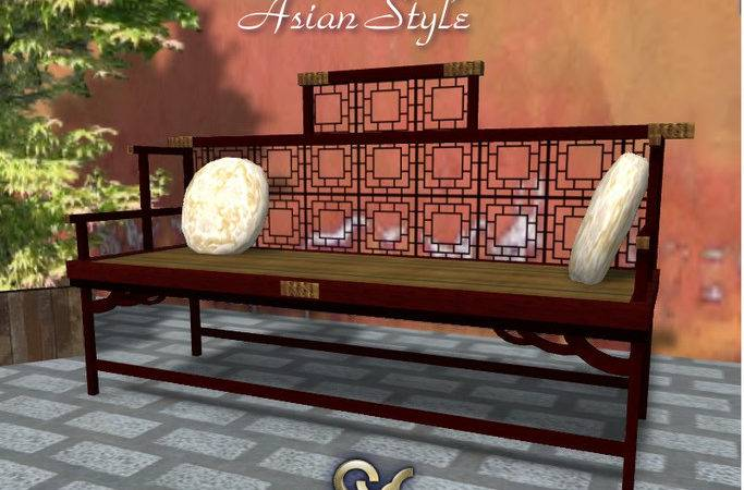 Second Life Marketplace Bench Asian Style Furniture