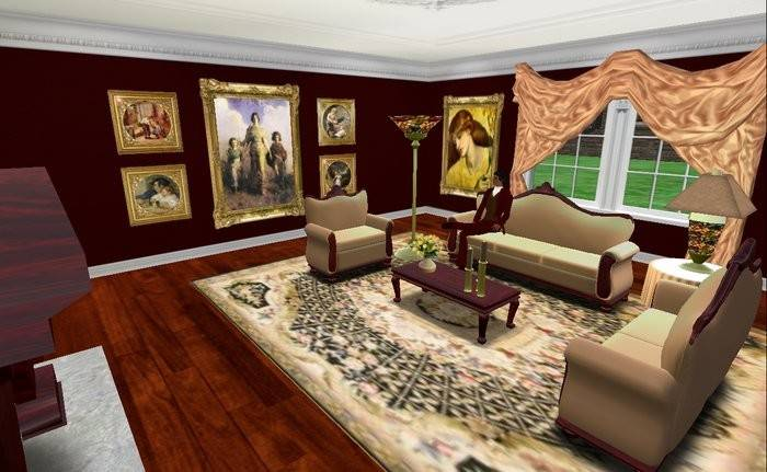 Second Life Marketplace Victorian Living Room Suite