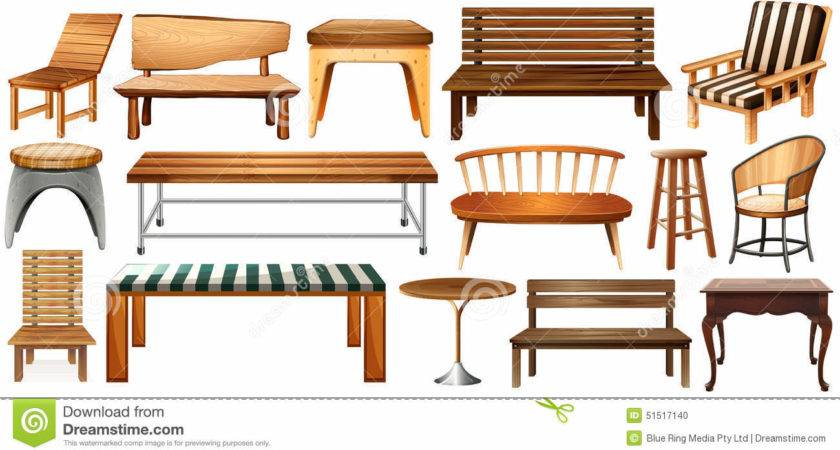 Set Furnitures Vector