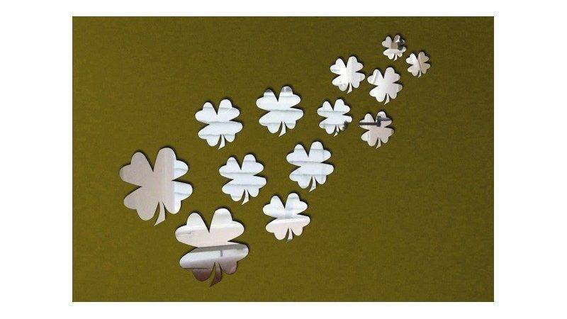 Shamrock Mirror Stickers Decal Cheap