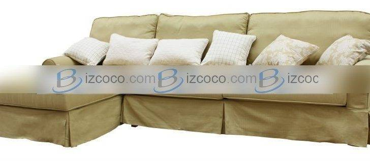 Shape Fabric Sofa Country Style Wooden Red