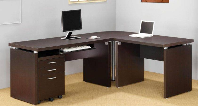 Shaped Desks Small Spaces Ideas Throughout
