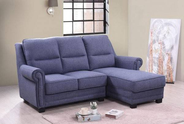 Shaped Fabric Sofa Sectional Chaise Leather