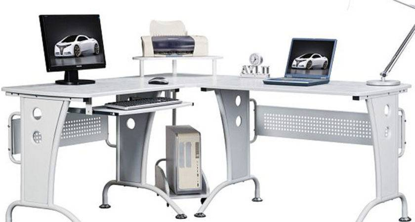 Shaped Home Office Desk Decosee