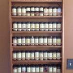 Shelf Wall Mounted Oak Spice Rack