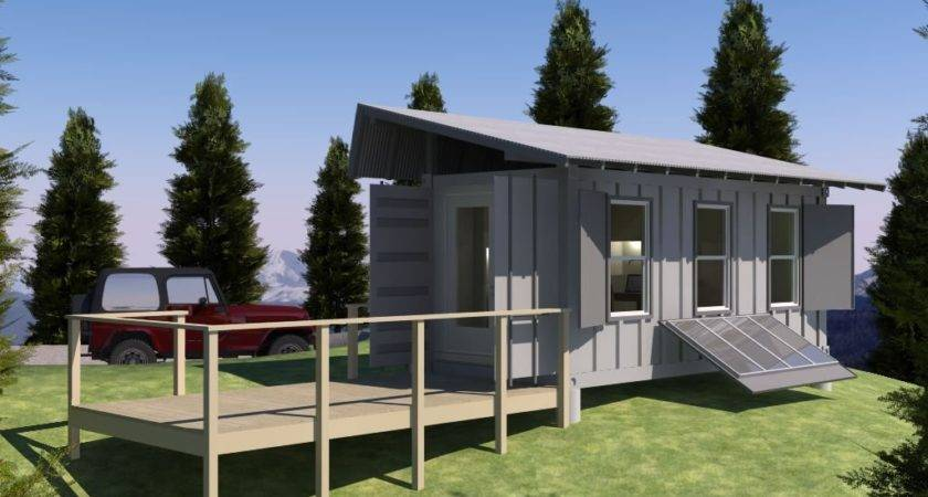 Shipping Container Based Remote Cabin Design