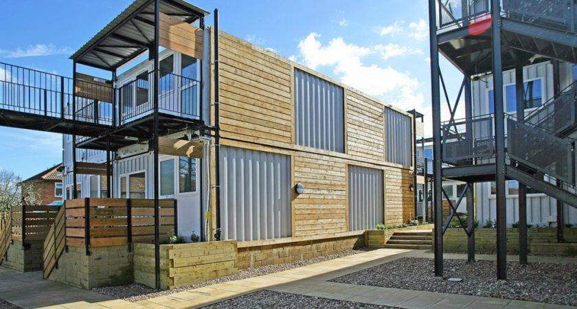 Shipping Containers Transform Into Emergency Housing