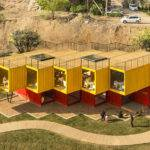 Shipping Containers Used Build Temporary Pavilion China