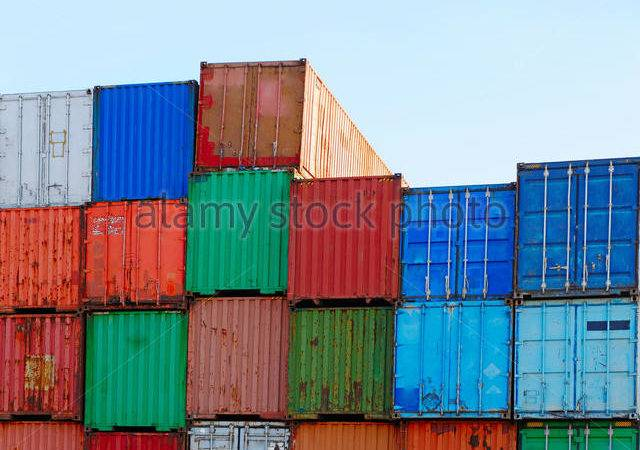 Shipping Industry Containers Stacked Photos